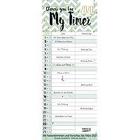 My Timer - Glamour your Time 2020: TypoArt Familienplaner mit 2 breiten Spalten. Edler Familienkalender mit Ferienterminen und Vorschau bis März 2021.