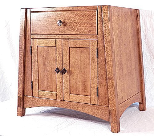 Vanity Bathroom Sink Cabinet Quarter Sawn Oak Amish Mccoy Mission Inspired 26 Color Selection