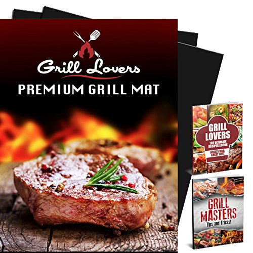 Premium BBQ Grill Mat Set of 2 - Great for Cooking, Baking, Grilling - Reusable, Fireproof, Durable, Heat Resistant, Non-Stick Barbecue Sheet - Use for Meat, Veggies, - Stick Cubs Big Chicago