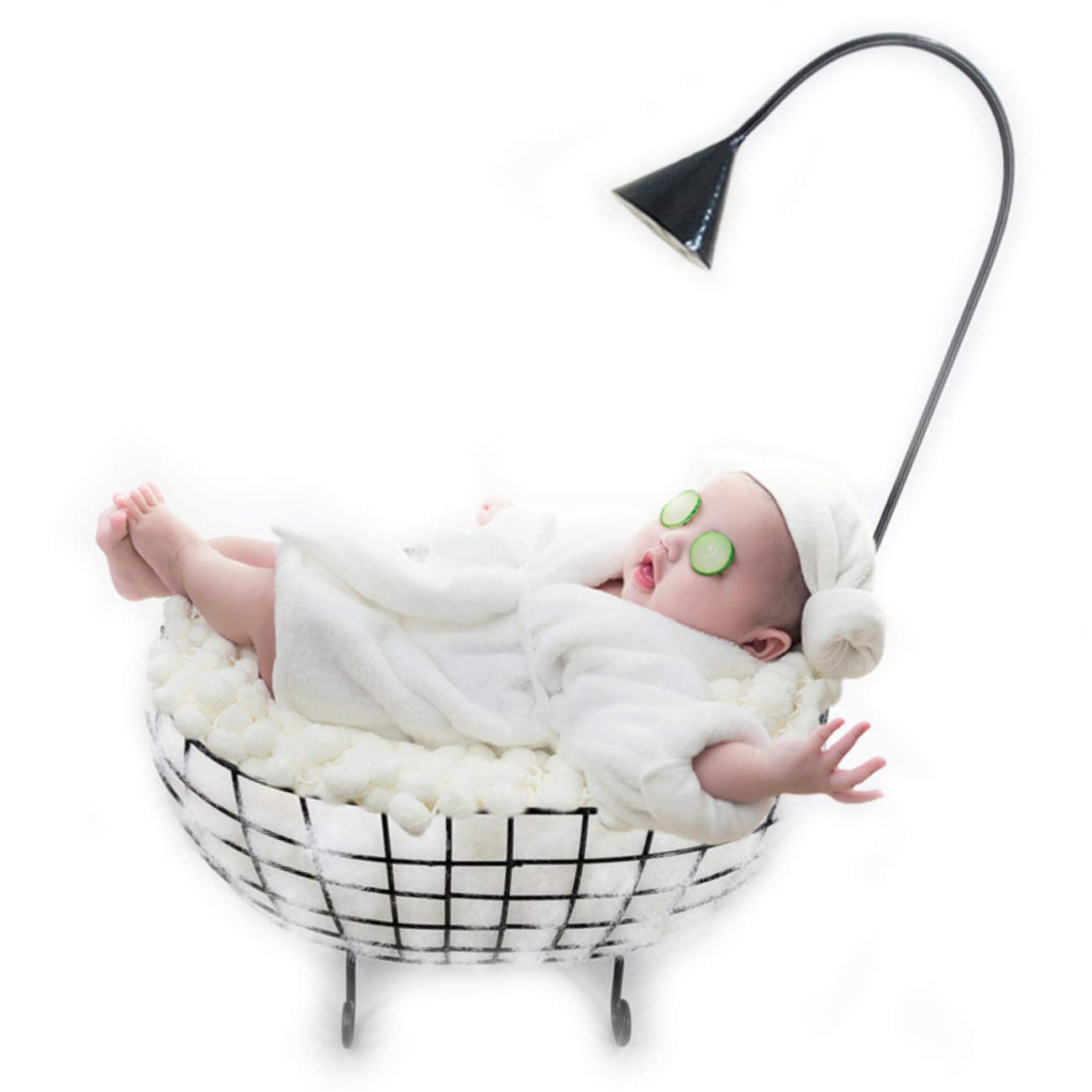 Newborn Baby Photography Props Basket, Baby Photo Props Bathtub, Professional Photography Posing Prop for Boy Girl Black by M&G House