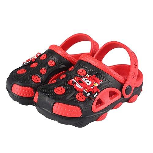 7308fac13cc7e6 Fashion-zone Kids Cute Non-Slip Summer Garden Clogs Toddler Two-Tone Double
