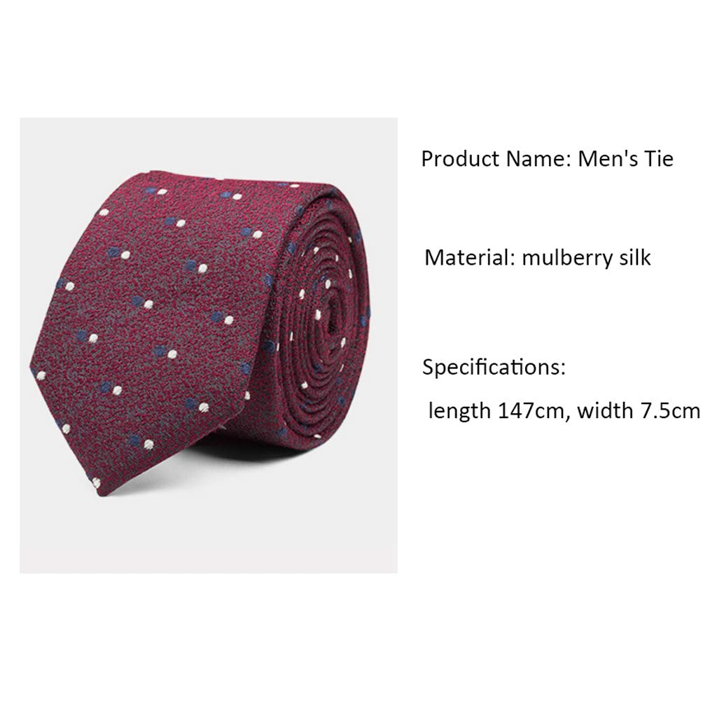 Color : Red-A Zyj stores-Necktie Mens Clothing to Work Silk Dress Tie Autumn and Winter Business Marriage Mens Tie