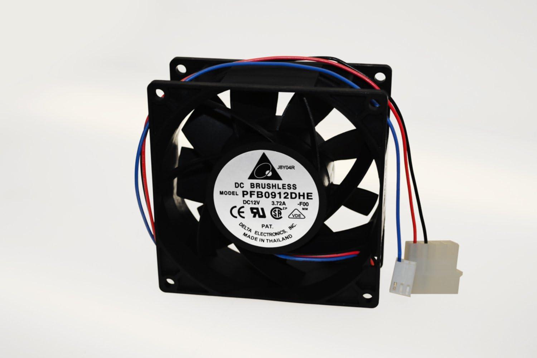 8000 RPM Max Delta Electronics PFB0912DHE-F00 92x92x38mm Cooling Fan 46.21 air pre. 4+3-pin power /& TAC connector 66.5 dBA 175.03 CFM 3.72A
