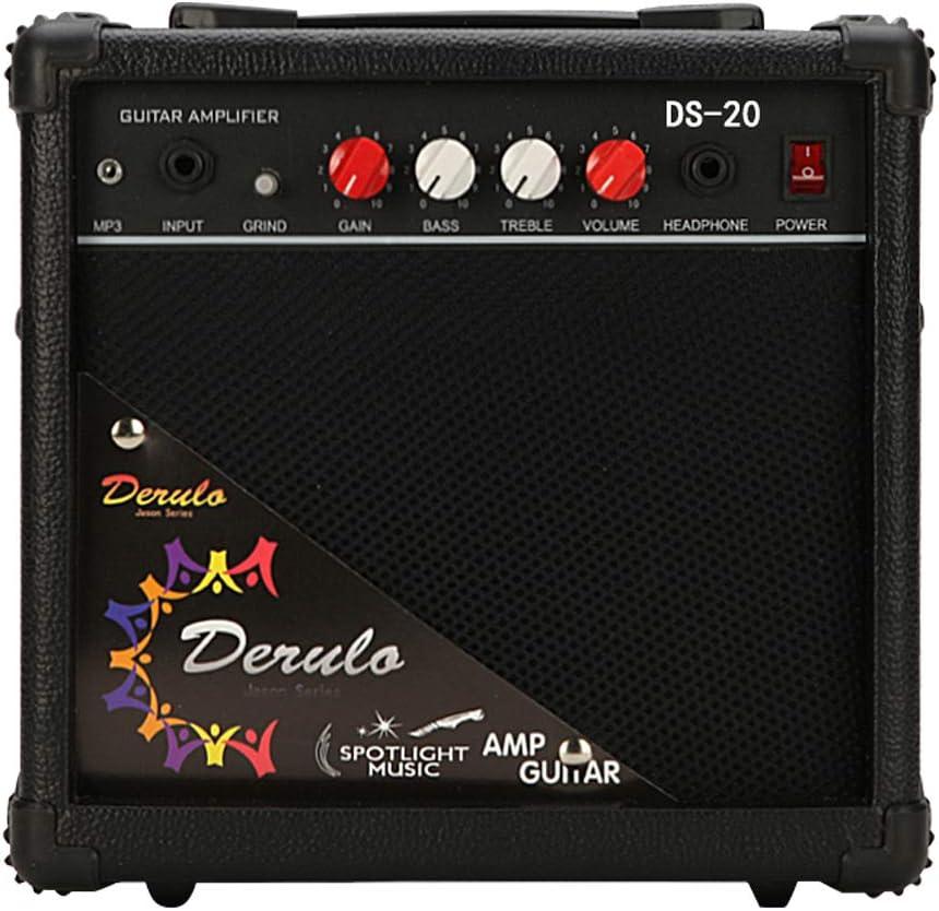 YUEWO - Amplificador de 20 W para Guitarra portátil - Entradas ...