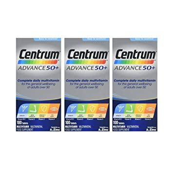 3 x Centrum Advance 50+ 100 Comprimidos: Amazon.es: Salud y cuidado personal