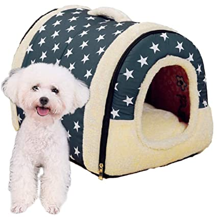 KAIMENG Nido de Mascotas Cama para Perros (2 en 1), Suave y cálido