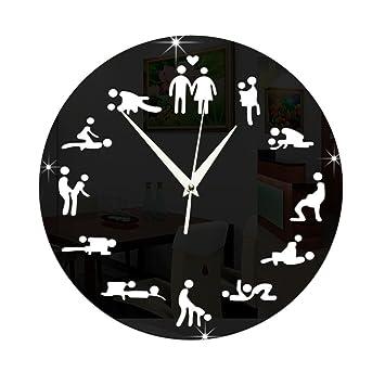 ZXLIFE@ Reloj De Pared Sutra Sex Position, Diseño Moderno Hacer Love Mute Relojes De