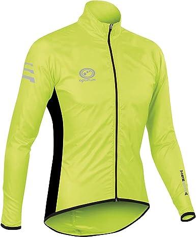 TALLA M. Optimum Nitebrite Chaqueta Impermeable para Ciclismo, Hombre, Verde