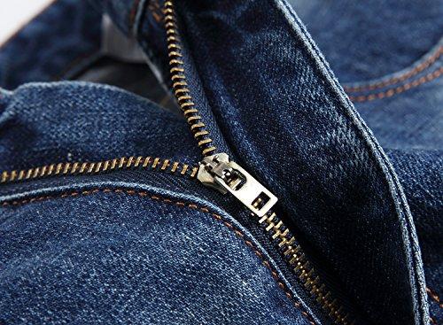 DAVID.ANN Men's Straight Fit Distressed Ripped Denim Jeans,Blue,32 by DAVID.ANN (Image #5)