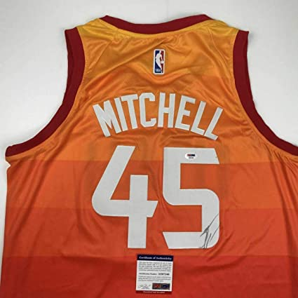 new concept d270f 0071a Donovan Mitchell Signed Jersey - Orange COA - PSA DNA Certified -  Autographed NBA Jerseys