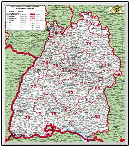 Karte Baden Württemberg Kostenlos.Xxl Bundesländerkarte Baden Württemberg Mit Postleitzahlen Duo Pinnwand Und Magnetwand Pinnbar Magnethaftend Matt Antireflexierend Laminiert