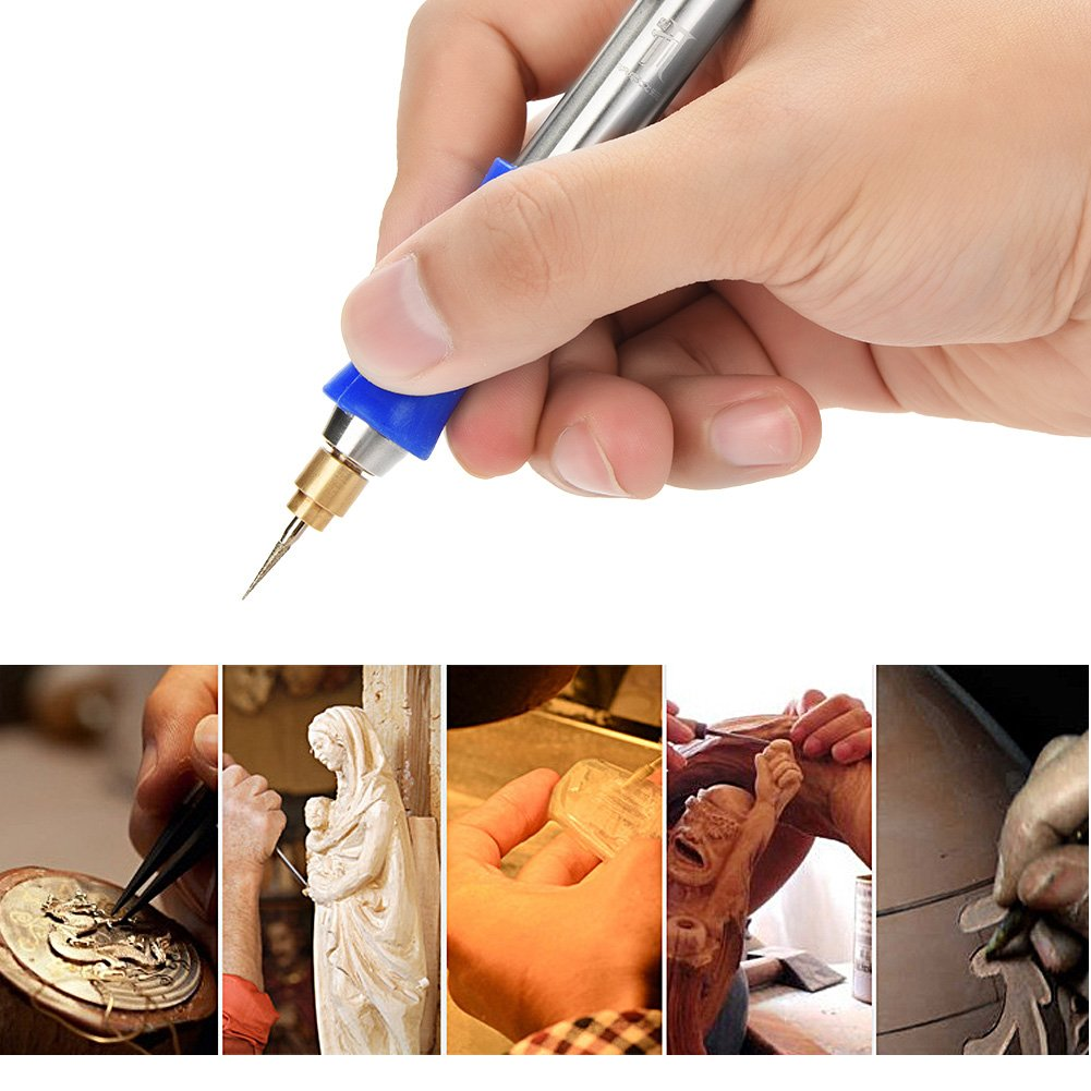 #2 Zerodis 3.7V Handheld Rechargeable Cordless Electric Engraving Pen Carving Tool for DIY Jewelry Metal Glass
