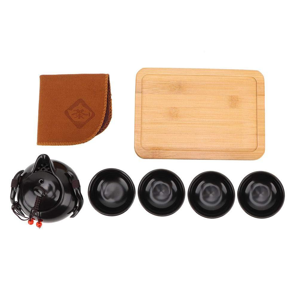Set da t/è tradizionale cinese Set da t/è delicato in porcellana Set da t/è portatile Teiera Set da t/è Set da t/è Kung Fu Set da t/è in porcellana Teiera Package 2