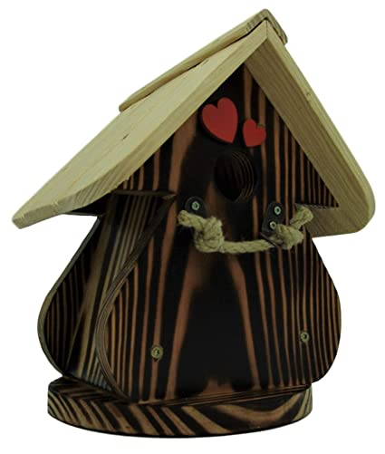 Caseta para pájaros, casa para pájaros producto Francais, 28 cm alto, Flambée techo