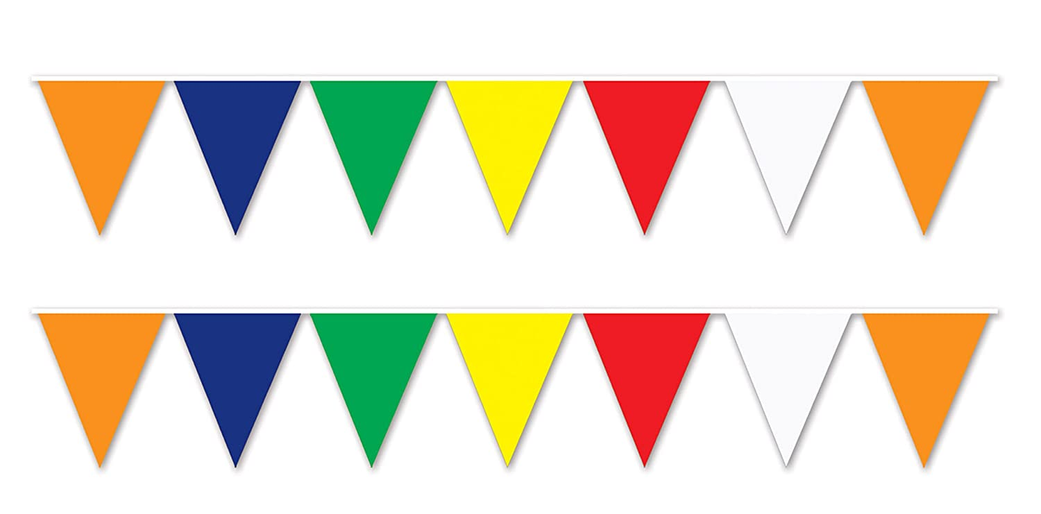 100 Foot Multicolor Birthday Party Pennant Banner Decorations Supplies Wheater R