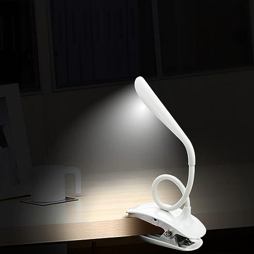 Lámpara de escritorio LED con puerto de carga USB & batería recargable, TouchEZ el sensor