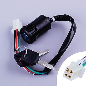 Ignition Key Lock Switch Set 3 Wire Go Kart Atv 110cc 125cc 150cc 250cc