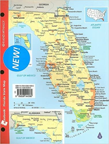 Flordia State Map.Rand Mcnally Notebook Florida State Map Rand Mcnally 9780528942280