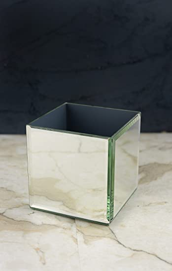 Amazon Mirror Cube Vase 4 Inch Square Home Kitchen