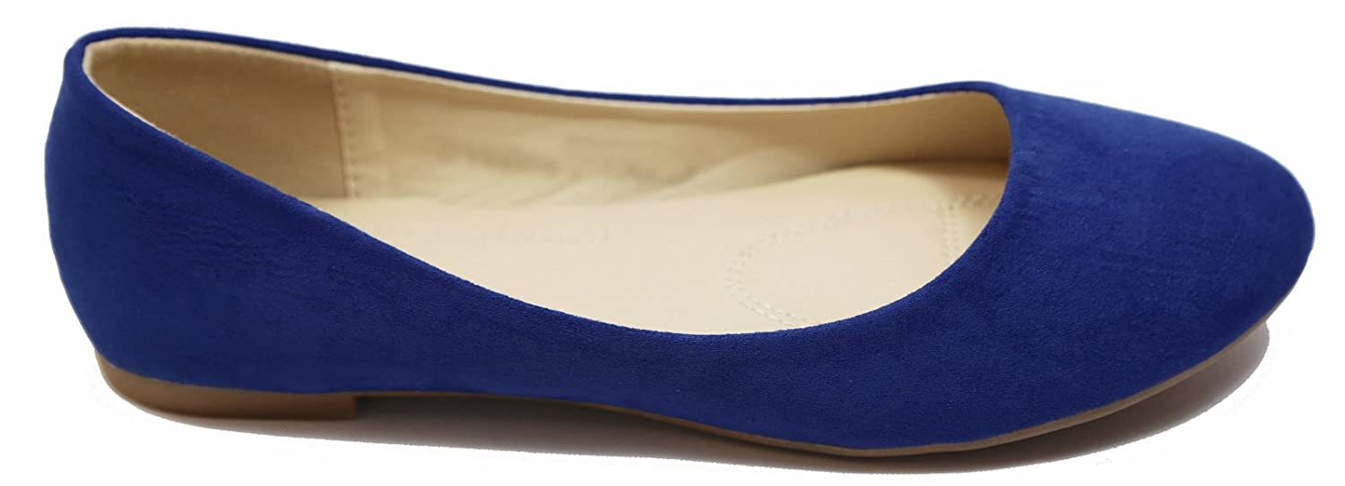 Max Collection May Women Ballet Flat Shoes All Colors B01CRJAKF6 7 (Order 1/2 Size UP,RUN SMALL)|Suede-dark Royal Blue