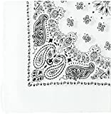 Dozen -Military Army Trainmen Paisley Bandanas (White - 27'') 12 PACK
