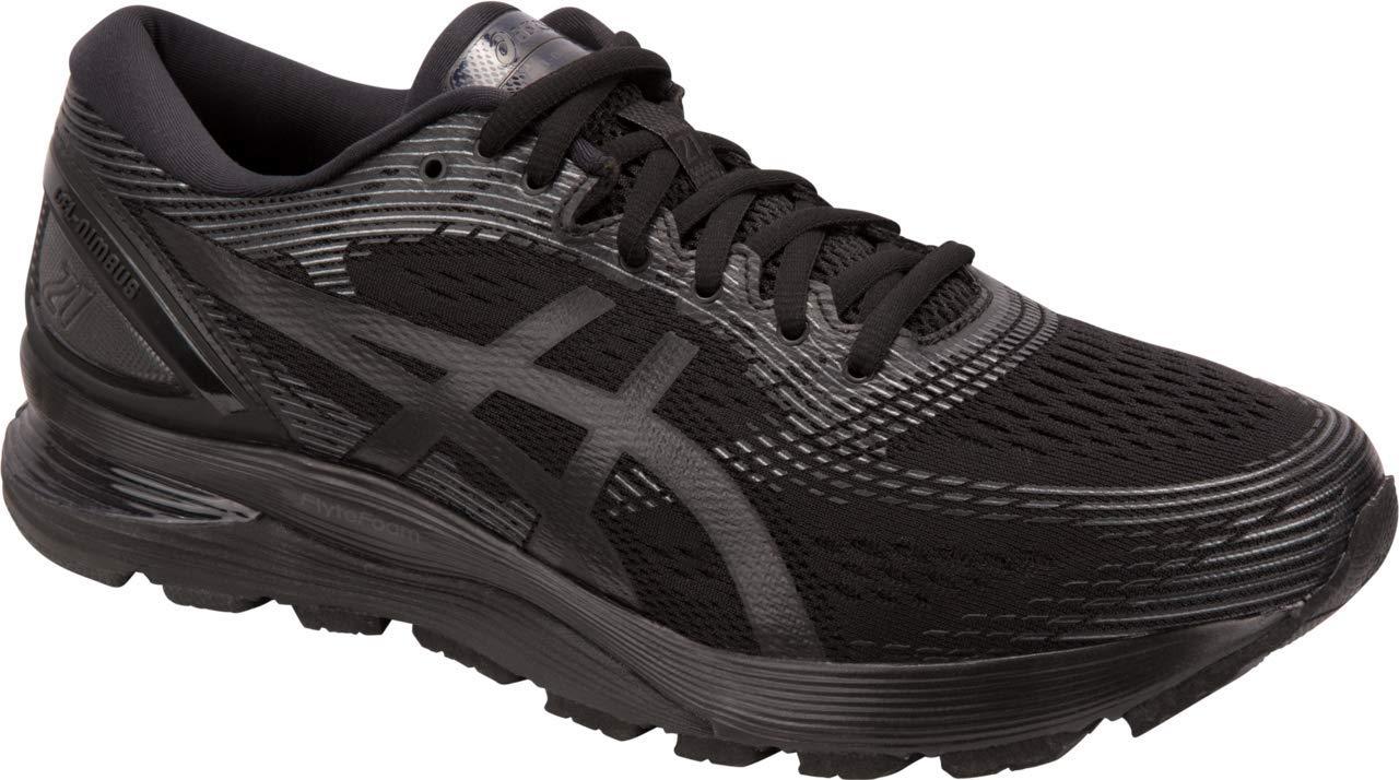 ASICS Gel-Nimbus 21 Men's Running Shoe, Black/Black, 7 D US