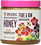 Madhava Naturally Sweet Organic Pure & Raw Gluten-Free Whipped Honey, 10.5 Ounce