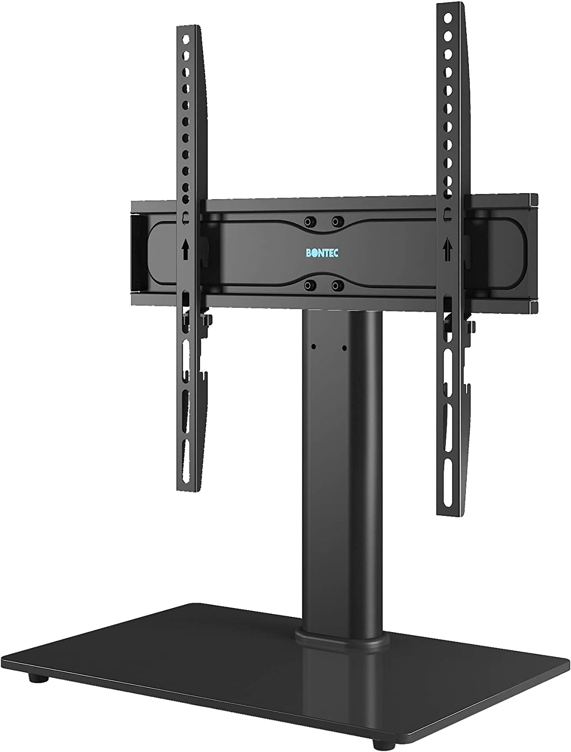 BONTEC Universal Table Top Pedestal TV Stand with Bracket for...