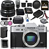 Fujifilm X-T20 Mirrorless Digital Camera (Silver) 16542359 XF 23mm f/2 R WR Lens (Black) 16523169 Bundle