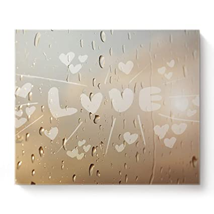 """/""""All We Need Is Love/"""" Stretched Canvas Print Framed Home Wall Art Office Decor"""