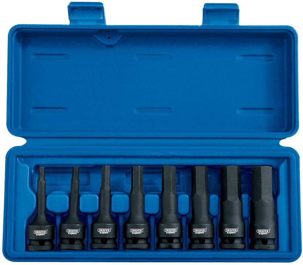 Draper 26439 - Juego de vasos para llaves (tamañ o: 1/2pulgadas, pack de 8) Draper Tools