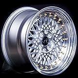 4 bolt gold rims - JNC031 Silver Machined Face Gold Rivets 16x8 4x100 4x114.3 ET20 Wheel Rim