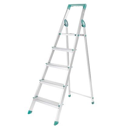 Bathla Prime 5-Step Aluminium Ladder-Teal