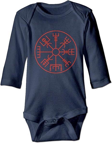 Símbolo Vikingo Brújula nórdica Recién Nacido Niñas Niño Niños Mameluco del bebé Camisas de Manga Larga para bebés y niños pequeños: Amazon.es: Deportes y aire libre