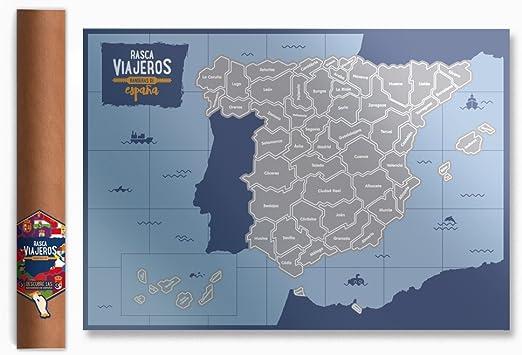 Mapa rascable Banderas España: Amazon.es: Hogar
