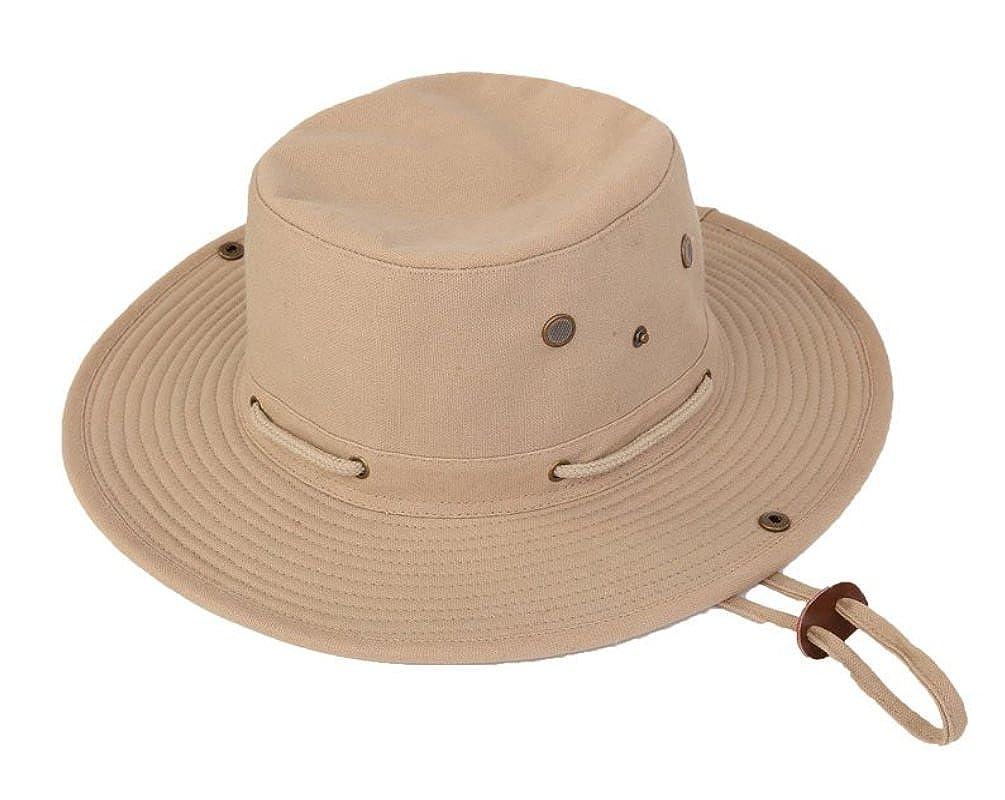 FELTON Safari Outback Bush Hat 100% Cotton Fedora Wide Brim Aussie Canvas Summer Sun Cap