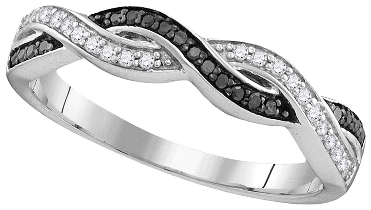 Size-5.25 1//6 cttw, Diamond Wedding Band in 10K Pink Gold G-H,I2-I3