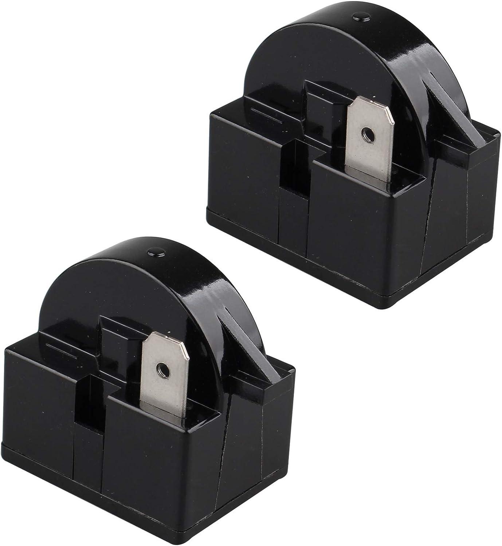 Futheda 2 Stück 220 V 22 Ohm 1 Pin Kühlschrank Gefrierschrank Kompressor Ptc Starter Relais Kühlschrank Zubehör Für Kühlschrank Schwarz Elektro Großgeräte