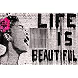 Banksy Life Is Beautiful Mini PAPER Poster Measures 23.5 x 16.5 (59.4 x 42 cm) Brand New Sealed A2 Poster by Laminated Posters