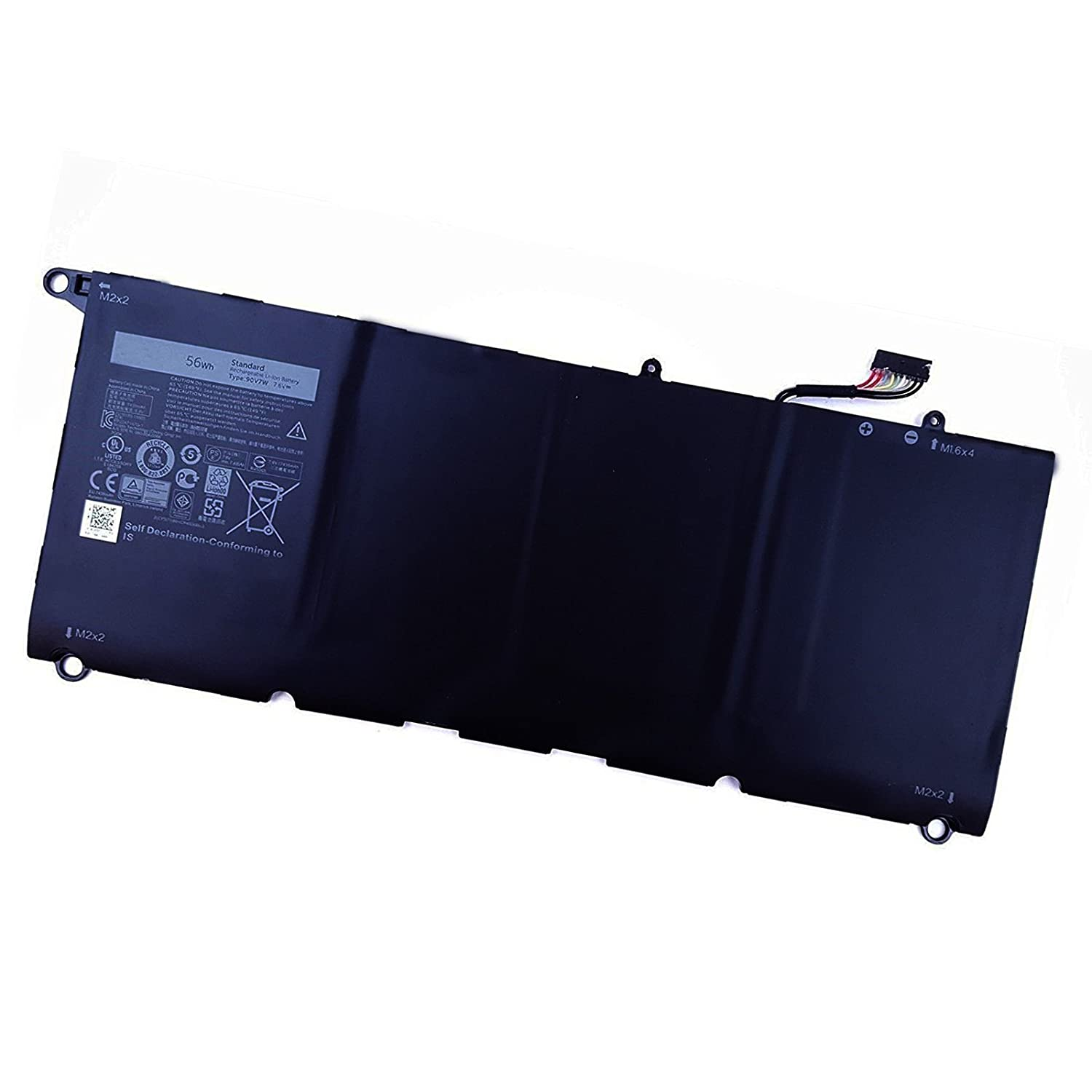 Amazon.com: SUNNEAR 56Wh 90V7W Battery for Dell XPS13-9350 Laptop 5K9CP DIN02 JD25G: Computers & Accessories