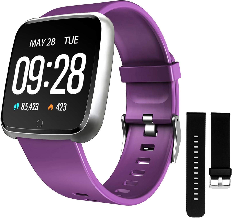 ZKCREATION Smartwatch,Reloj Inteligente Pulsera Actividad con Pulsómetro Podómetro Calorie Monitoreo del sueño Impermeable Relojes Inteligentes para Hombre Mujer para Android iOS