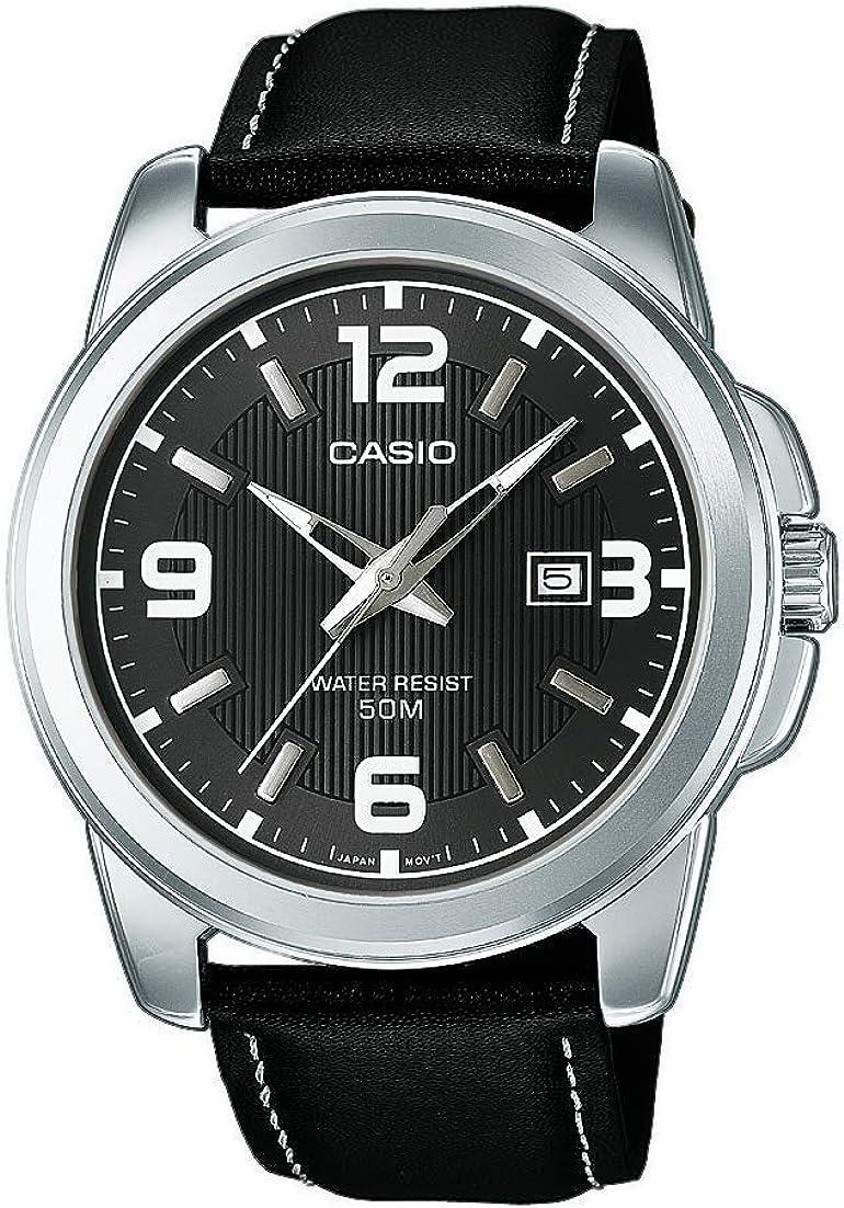 Casio Reloj Analógico de Cuarzo con Correa en Cuero MTP-1314PL-8AVEF