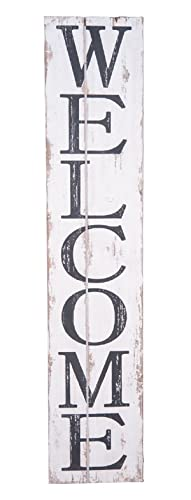 """Welcome Sign 42"""" - Welcome Wooden Sign - Farmhouse Style Sign- Vertical Welcome Sign"""