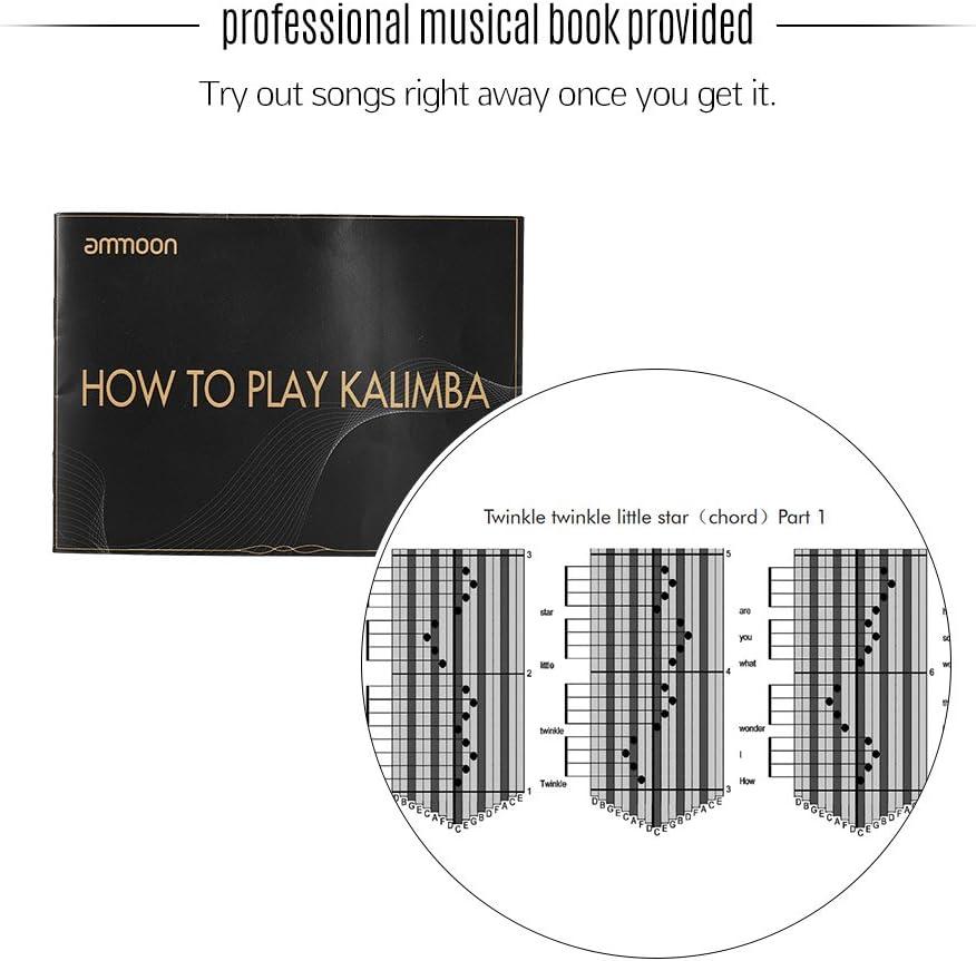 ammoon Kalimba 17 Claves Mbira Thumb Piano Sanza Madera Maciza ...