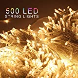 ZOIC 500 LED Christmas Wedding Party Fairy String Lights Lamp 100 Meters (328 feet) 8 Modes 31V Memory Function Warm White