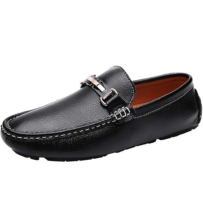 Zapatos de cuero para hombre Gamuza de primavera y otoño/Casual Mocasines y sin cordones antideslizantes Blanco: Amazon.es: Ropa y accesorios