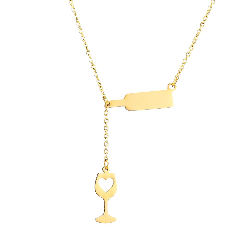 Amazon.com: SKQIR Stainless Steel Love Wine Cheers Hollow Heart ...