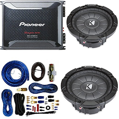 Pioneer 4 Gauge 1600W Monoblock Class-D Car Amplifier Kicker 12