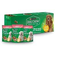 DOG CHOW Alimento Húmedo Adultos Pavo, Paquete con 20 Pzas de 100g