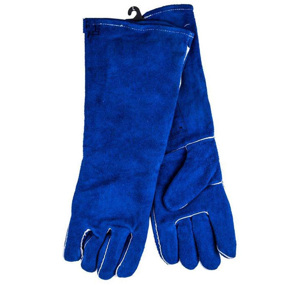 IRVING Fire Resistant Gloves Leather,Mitts Perfect for Fireplace, Stove, Oven, Grill, Welding, BBQ, Mig, Pot Holder, Animal Handling (Size : L)